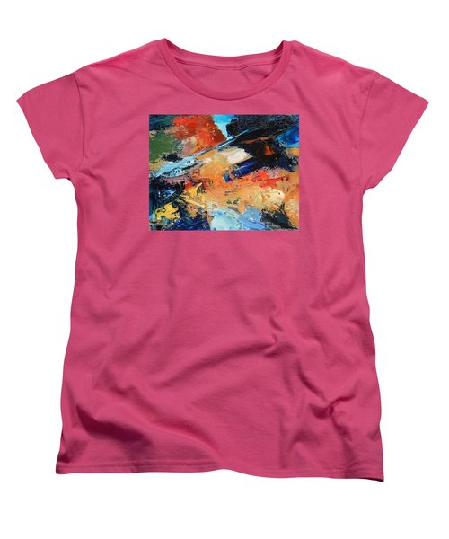 Women's T-Shirt (Standard Cut) featuring the painting Demo Sketch by Gary Coleman