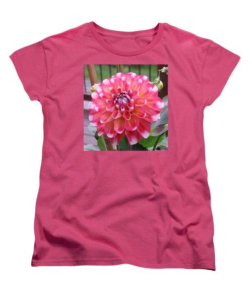 Denali Dahlia Women's T-Shirt (Standard Cut) by Karen J Shine