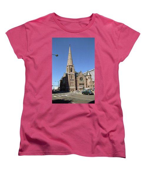 Denver Downtown Church Women's T-Shirt (Standard Cut) by Frank Romeo