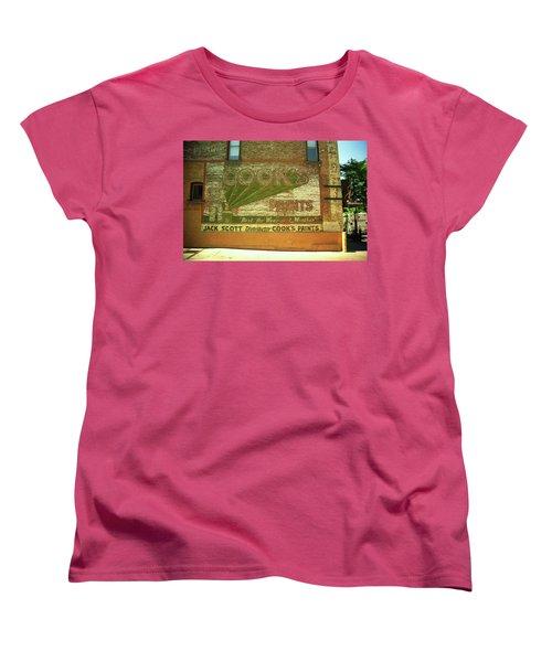 Denver Ghost Mural Women's T-Shirt (Standard Cut) by Frank Romeo