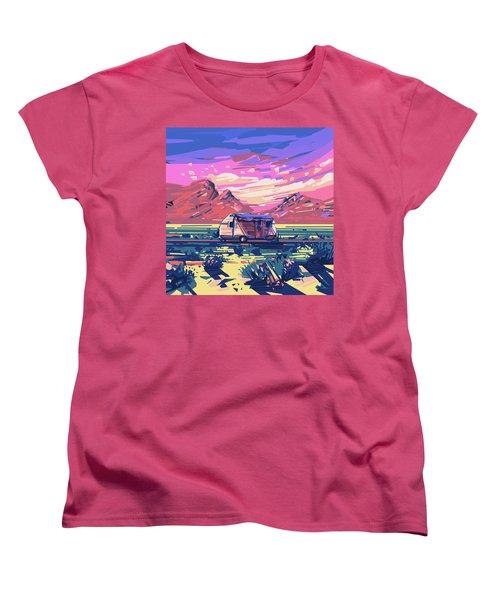 Desert Landscape Women's T-Shirt (Standard Cut) by Bekim Art