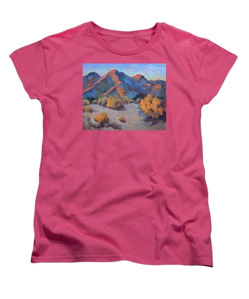 Women's T-Shirt (Standard Cut) featuring the painting Desert Light by Diane McClary