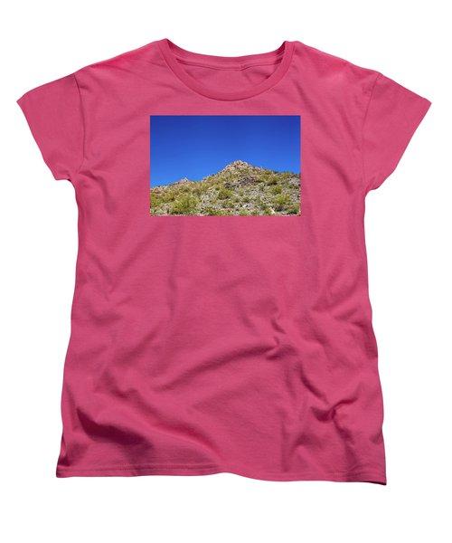 Desert Mountaintop Women's T-Shirt (Standard Cut) by Ed Cilley