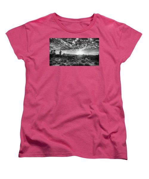 Desert Sunrise Women's T-Shirt (Standard Cut) by Monte Stevens