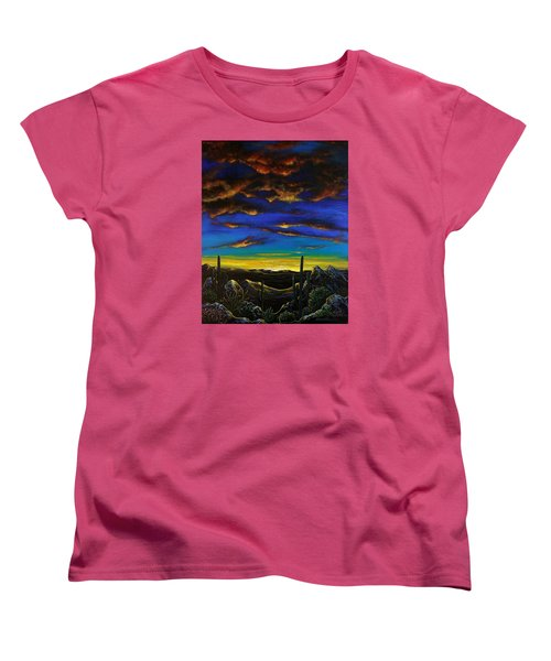Desert View Women's T-Shirt (Standard Cut) by Lance Headlee