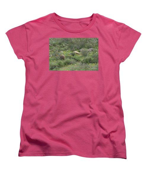 Desert Wildflowers Women's T-Shirt (Standard Cut) by Anne Rodkin