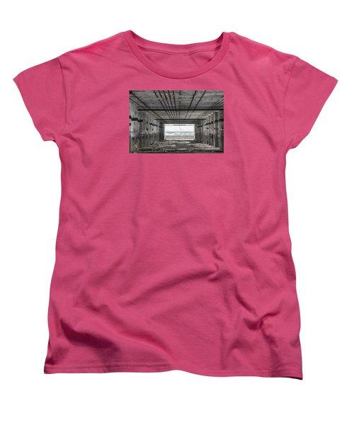 Detroit Packard Plant  Women's T-Shirt (Standard Cut) by John McGraw