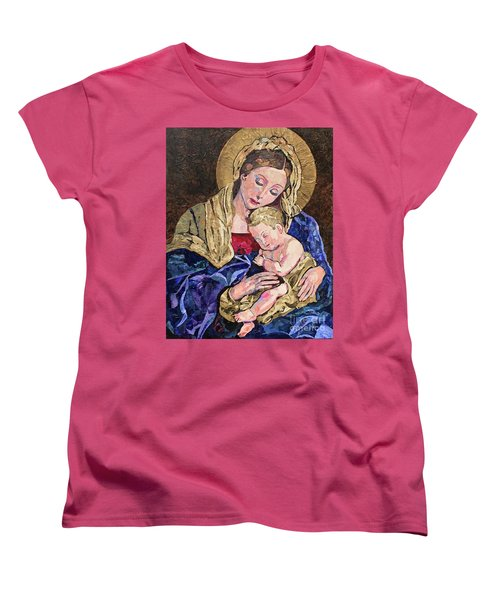 Women's T-Shirt (Standard Cut) featuring the mixed media Devine Intervention by Pat Craft