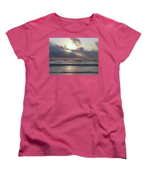 Dhow Wooden Boats At Sunrise 1 Women's T-Shirt (Standard Fit)