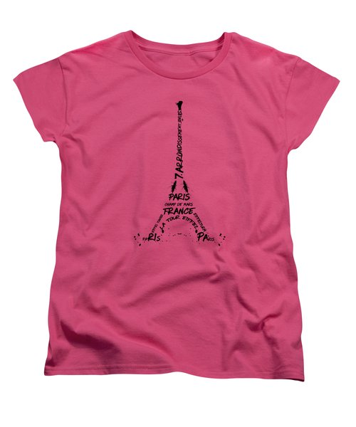 Digital-art Eiffel Tower Women's T-Shirt (Standard Cut) by Melanie Viola