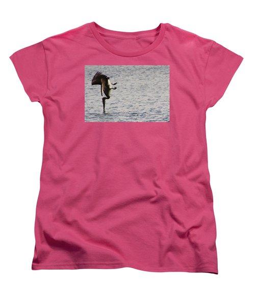 Diving Pelican Women's T-Shirt (Standard Cut) by Laurel Talabere