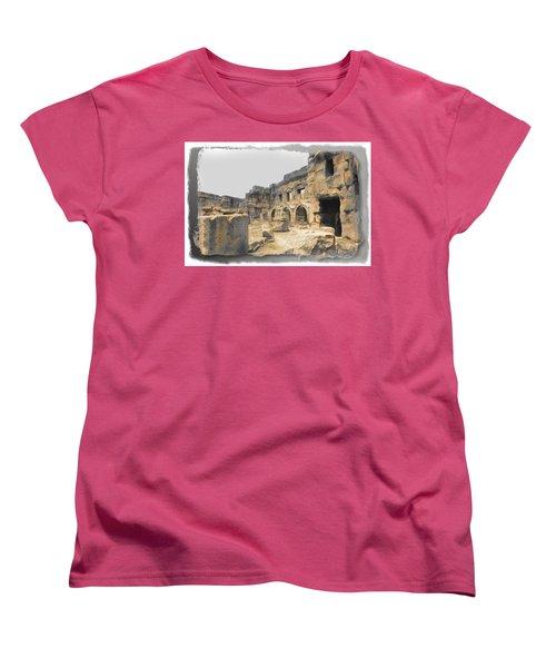Women's T-Shirt (Standard Cut) featuring the photograph Do-00452 Inside The Ruins by Digital Oil