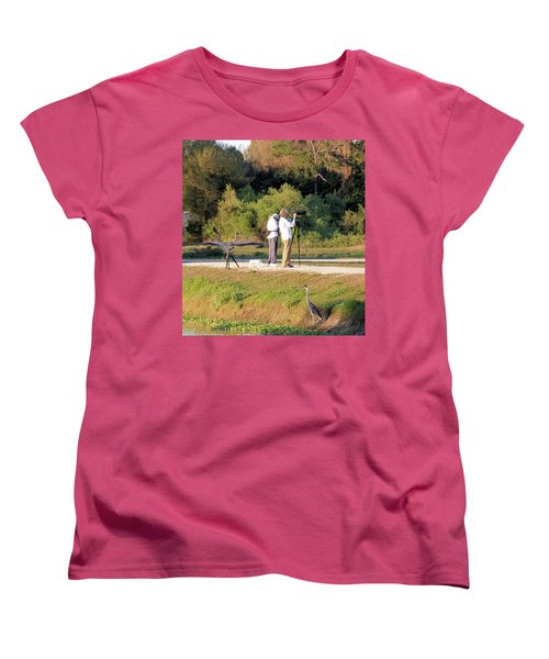 Women's T-Shirt (Standard Cut) featuring the photograph Do You See Any Birds? by Rosalie Scanlon