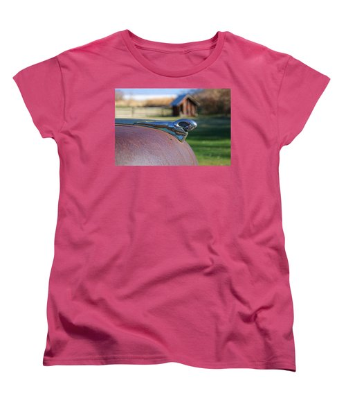 Women's T-Shirt (Standard Cut) featuring the photograph Dodge Emblem by Ely Arsha