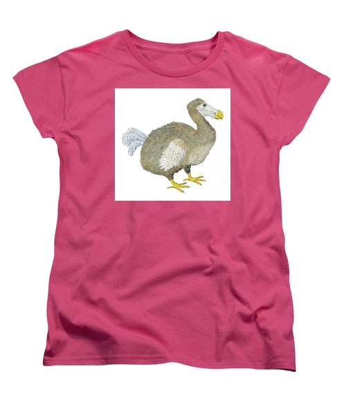 Women's T-Shirt (Standard Cut) featuring the painting Dodo Bird Protrait by Thom Glace