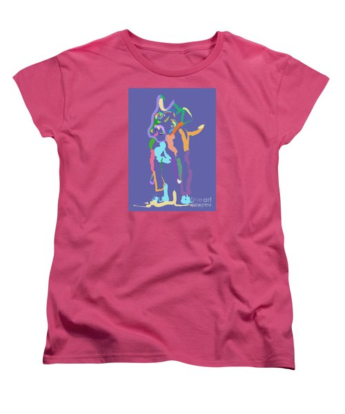 Women's T-Shirt (Standard Cut) featuring the painting Dog Cookie by Go Van Kampen