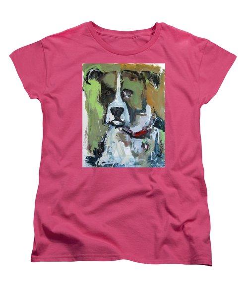 Women's T-Shirt (Standard Cut) featuring the painting Dog Portrait by Robert Joyner
