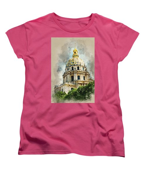 Dome Des Invalides Women's T-Shirt (Standard Cut) by Kai Saarto