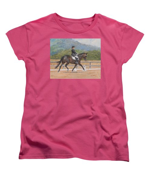 Women's T-Shirt (Standard Cut) featuring the painting Donnerlittchen by Quwatha Valentine