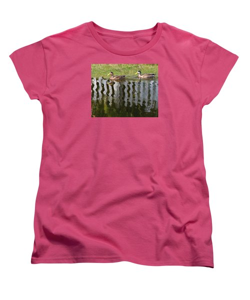 Don't Fence Us In Women's T-Shirt (Standard Cut) by Kathy M Krause