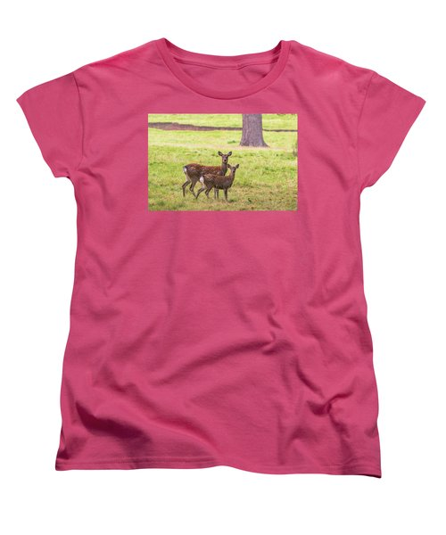 Women's T-Shirt (Standard Cut) featuring the photograph Double Take by Scott Carruthers