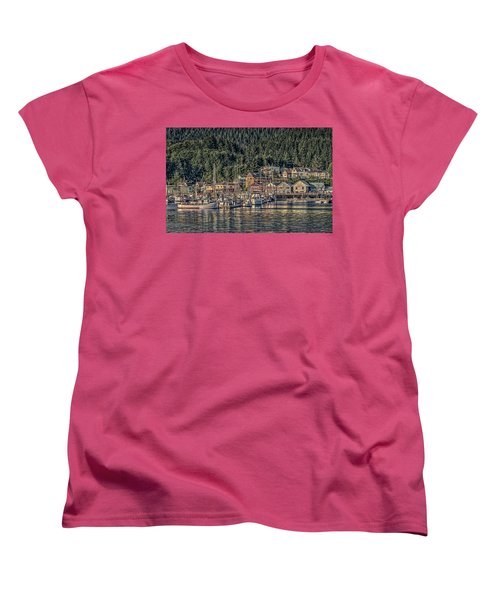 Down At The Basin Women's T-Shirt (Standard Cut) by Timothy Latta