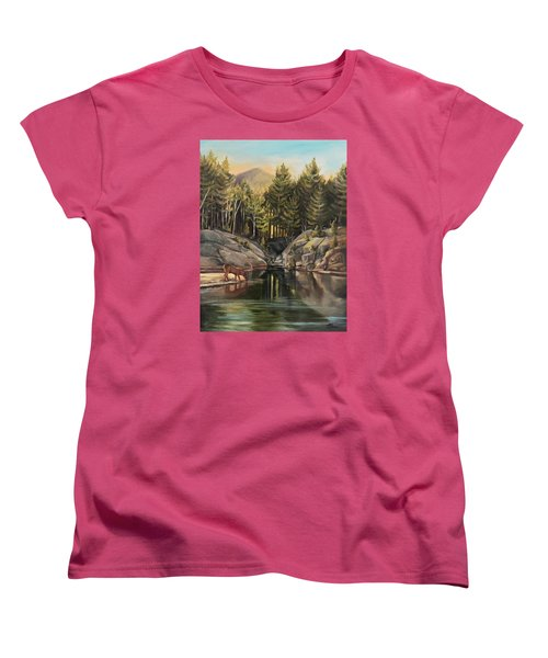 Down By The Pemigewasset River Women's T-Shirt (Standard Cut) by Nancy Griswold