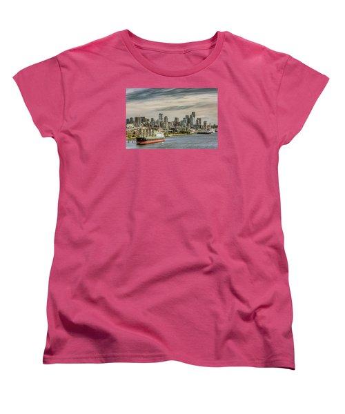 Women's T-Shirt (Standard Cut) featuring the photograph Downtown Seattle by Lewis Mann