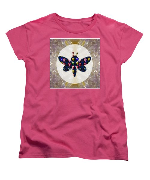 Dragon Fly Cute Painted Face Cartons All Over Donwload Option Link Below Personl N Commercial Uses Women's T-Shirt (Standard Cut) by Navin Joshi