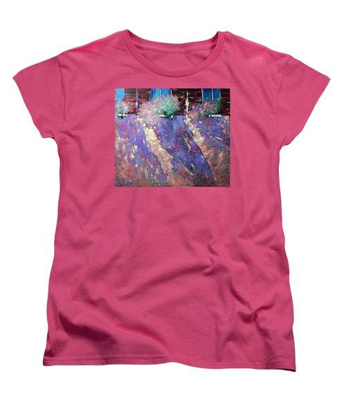 Drawn Sun. Women's T-Shirt (Standard Cut) by Anastasija Kraineva