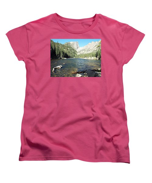 Women's T-Shirt (Standard Cut) featuring the photograph Dream Lake - Rocky Mountain National Park by Joseph Hendrix