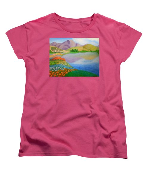 Women's T-Shirt (Standard Cut) featuring the painting Dream Land by Sheri Keith