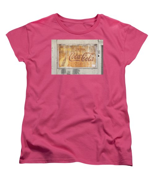 Women's T-Shirt (Standard Cut) featuring the photograph Drink Coca Cola by Mark Greenberg
