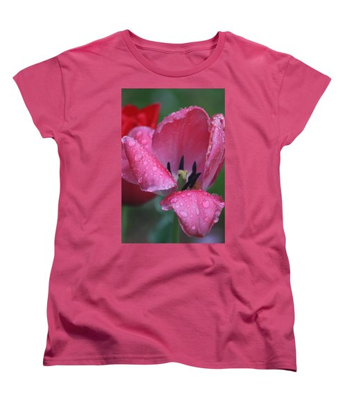 Women's T-Shirt (Standard Cut) featuring the photograph Drops Of Spring by Vadim Levin