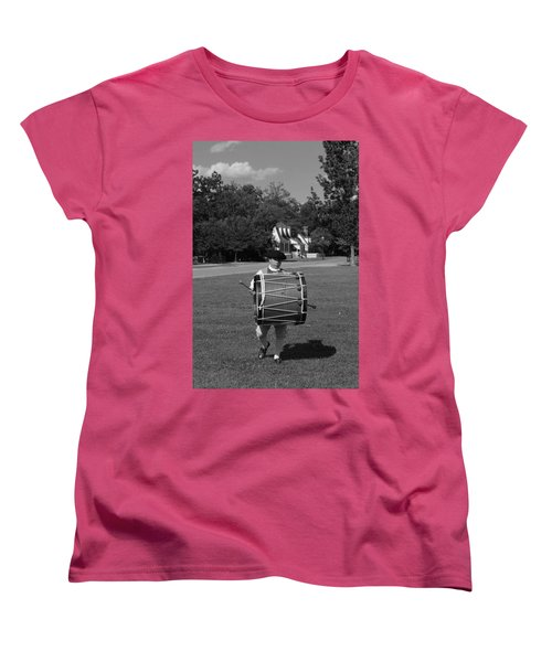Drummer Boy Women's T-Shirt (Standard Cut) by Eric Liller