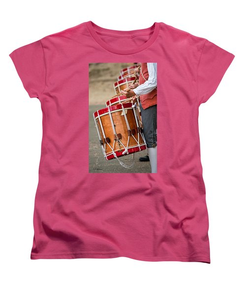 Drums Of The Revolution Women's T-Shirt (Standard Cut) by Christopher Holmes
