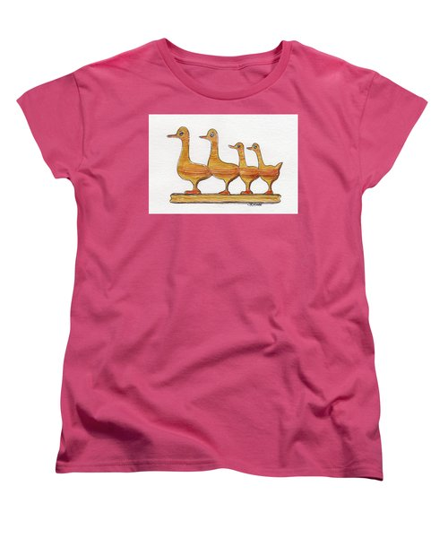 Ducks In A Row Women's T-Shirt (Standard Cut)