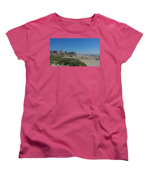 Dunes At The Del Women's T-Shirt (Standard Cut) by Mark Barclay