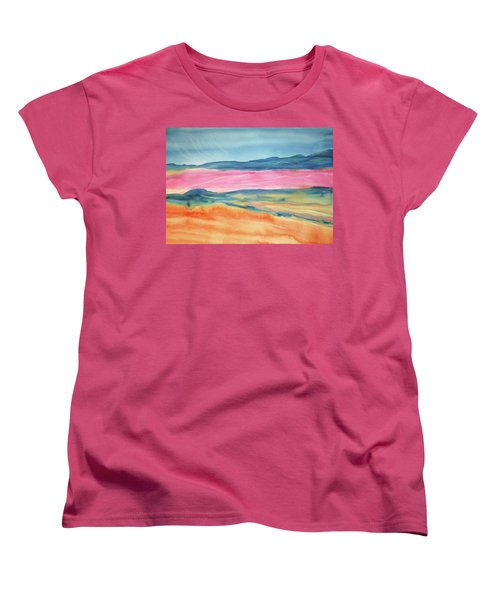 Women's T-Shirt (Standard Cut) featuring the painting Dunes by Ellen Levinson
