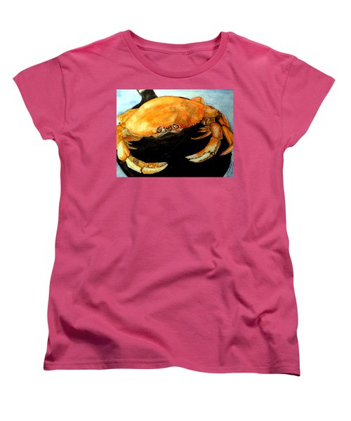 Women's T-Shirt (Standard Cut) featuring the painting Dungeness For Dinner by Carol Grimes