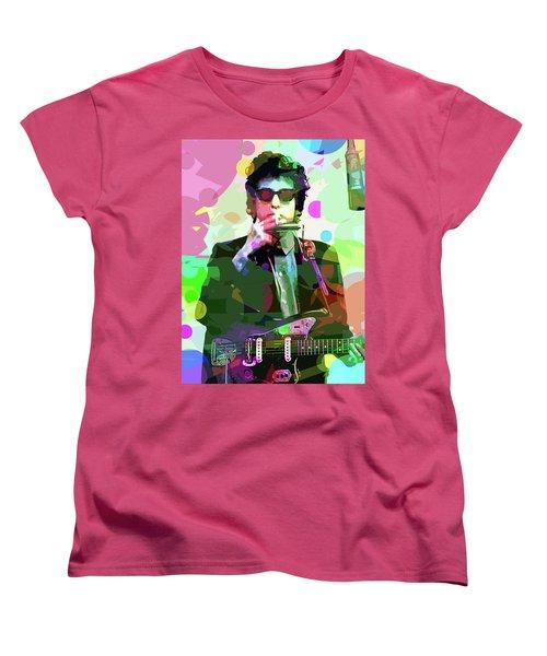 Dylan In Studio Women's T-Shirt (Standard Cut) by David Lloyd Glover