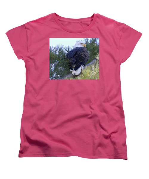 Eagle Portrait Women's T-Shirt (Standard Cut) by Brook Burling