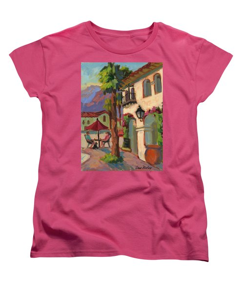 Early Morning Coffee At Old Town La Quinta Women's T-Shirt (Standard Cut) by Diane McClary