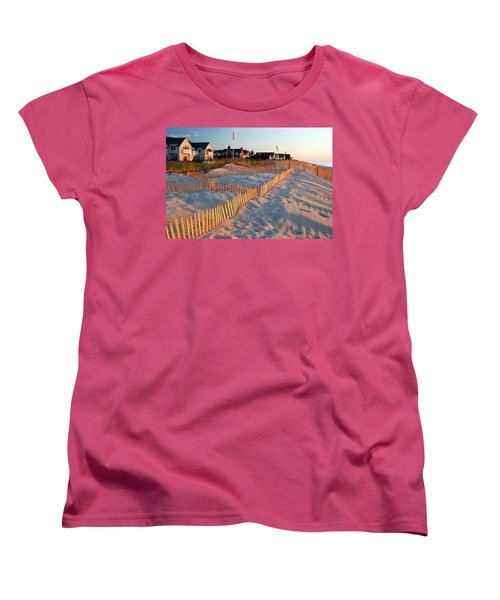 Early Morning On The Shore Women's T-Shirt (Standard Cut) by James Kirkikis