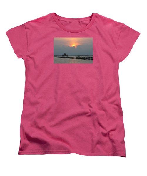 Women's T-Shirt (Standard Cut) featuring the photograph Early Sunset Over The Gazebo by Robert Banach