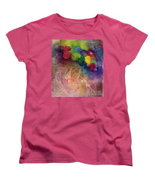 Women's T-Shirt (Standard Cut) featuring the painting Earth Emerging by Allison Ashton
