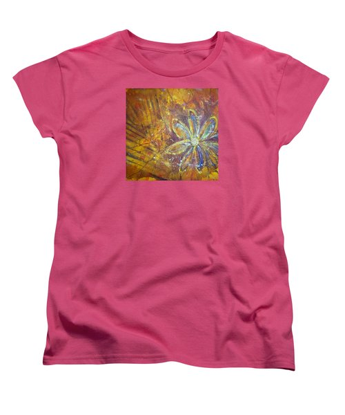 Earth Flower Women's T-Shirt (Standard Cut) by Tracy Bonin