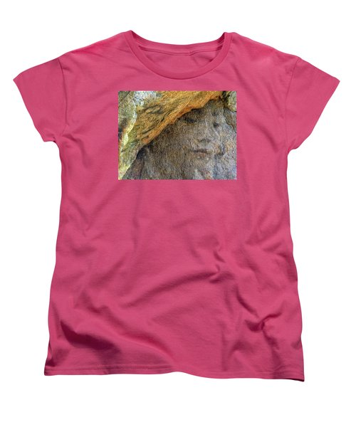 Women's T-Shirt (Standard Cut) featuring the photograph Earth Memories-stone # 4 by Ed Hall