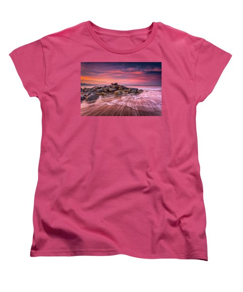 Women's T-Shirt (Standard Cut) featuring the photograph Earth, Water And Sky by Edward Kreis
