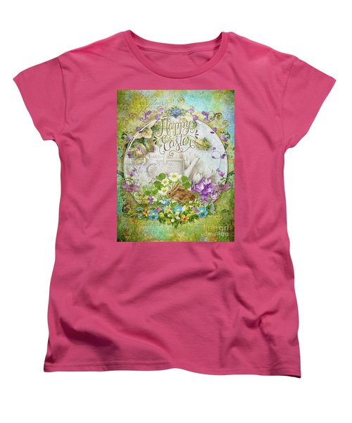Women's T-Shirt (Standard Cut) featuring the mixed media Easter Breakfast by Mo T